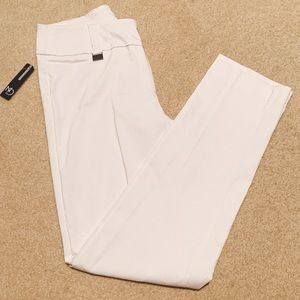 New Directions Optic White Work Pants